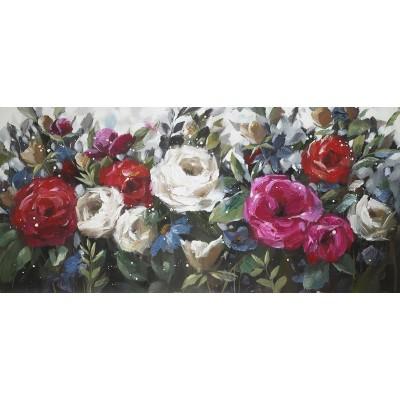 Cadre champs de roses