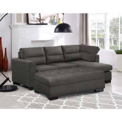 Sofa lounger avec tabouret rangement