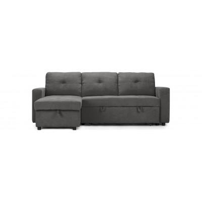 Sofa lit avec chaise longue gris (liquidation)