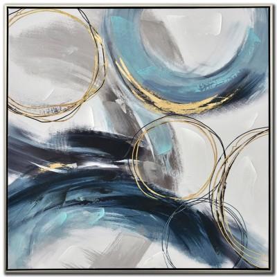 Cadre Blue Swirls l