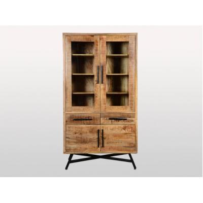 Armoire vitrée en bois de manguier