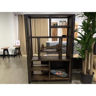 Bibliothèque bois de manguier (foncé)