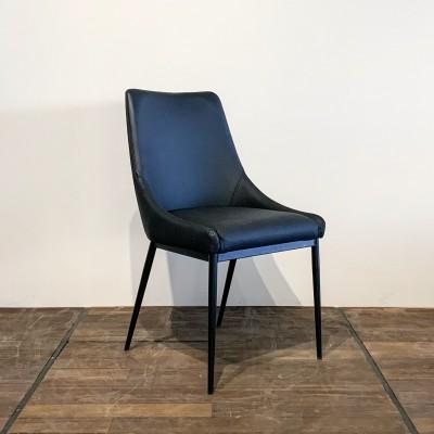 Chaise en cuir véritable