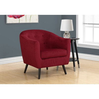 Chaise d'appoint en velour rouge