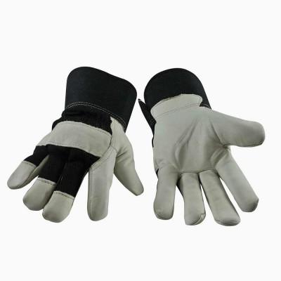 (6) Gants de travail en cuir doublés (L-XL)