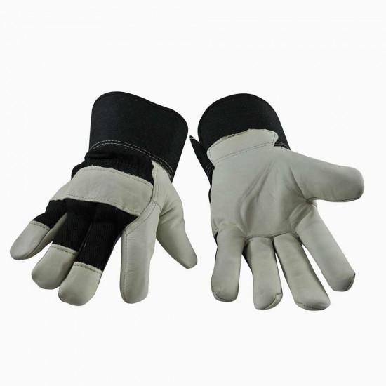 Gants de travail en cuir doublés (L-XL)