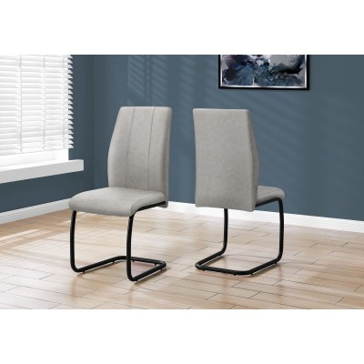 """Chaise 39""""H / gris (2)"""