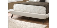 Base de lit Queen / tissus beige