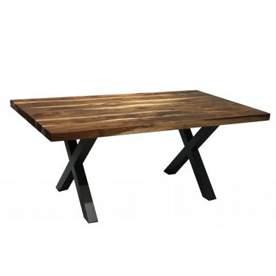 "Table en bois de sheesham 72"" droit"