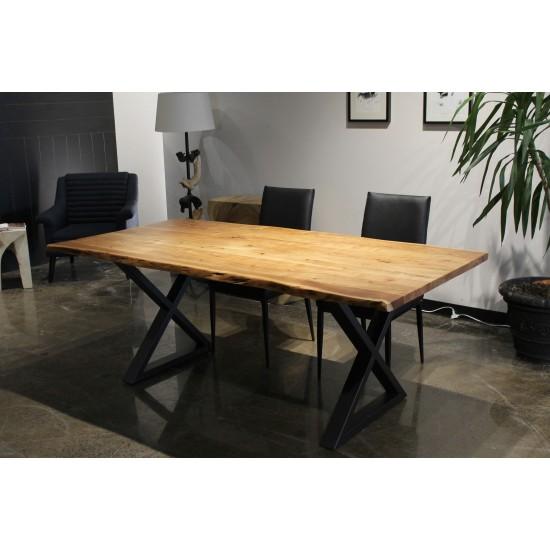 "Table en bois d'acacia 80"""