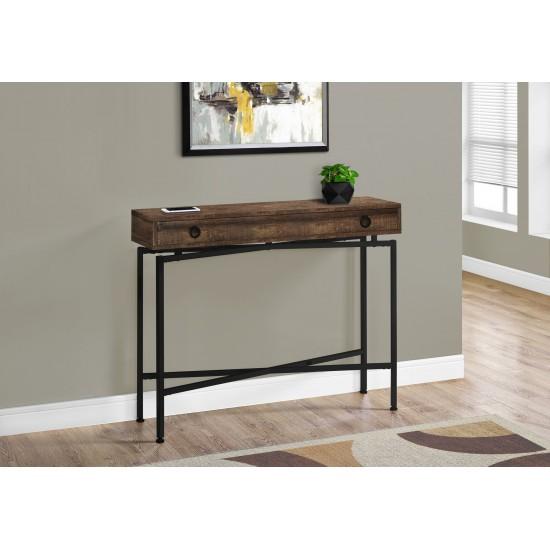 """Table console 42""""L / Faux bois brun"""