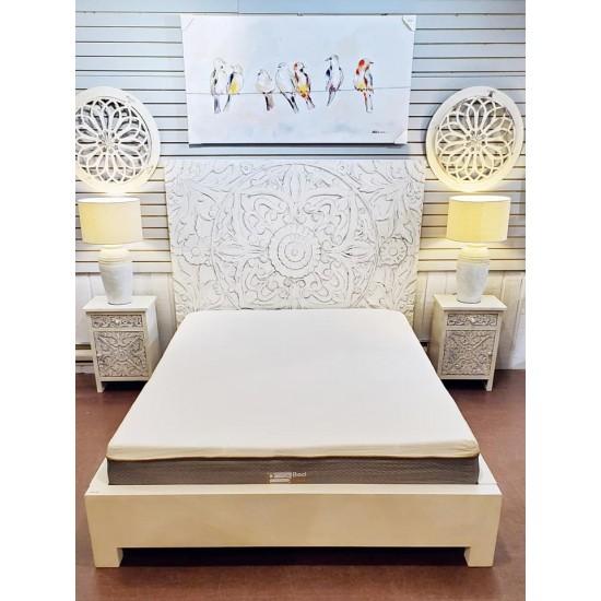 Mobilier de chambre manguier blanc (Queen)