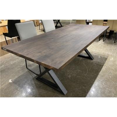 Table en acacia noyer